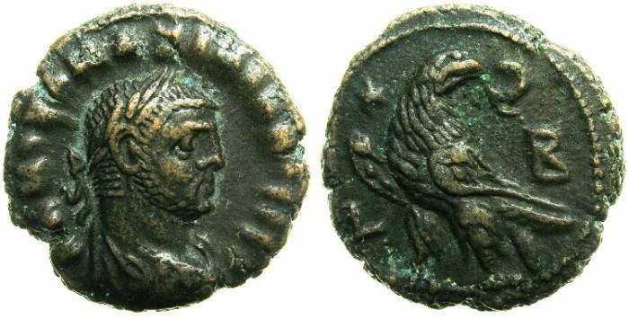 Ancient Coins - EGYPT.ALEXANDRIA.Maximianus Augustus AD 286-304.Billon Tetradrachm, struck AD 286/87.~#~Eagle left, star in field.