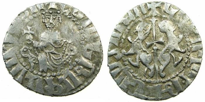 Ancient Coins - CILICIAN ARMENIA.Levon I AD 1198-1219.AR.Tram.