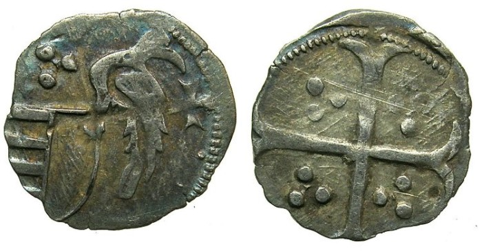 Ancient Coins - ROMANIA.Voivodes of WALLACHIA.Mircea I cel Batran AD 1386-1418.Bi.Ban (Obol).