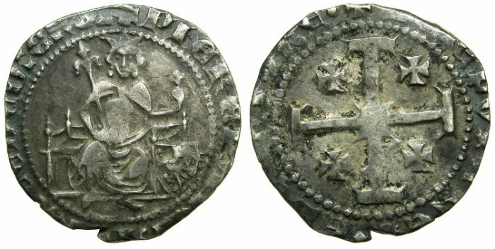 Ancient Coins - CRUSADER STATES.CYPRUS.Peter II AD 1369-1382.AR.Gros grand.