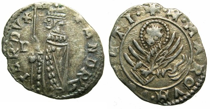 Ancient Coins - ITALY.VENICE.Andrea Contarini AD 1368-1382.AR.Soldino.2nd Type.1st.issue.~~~Sigla D