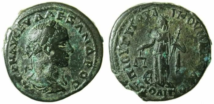 Ancient Coins - MOESIA INFERIOR.MARCIANOPOLIS.Severus Alexander AD 222-235.AE.24.Nemesis standing
