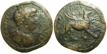 """Ancient Coins - IONIA.PHOCAEA.Commodus Caesar AD 166-177.AE.""""Medallion""""40.5mm.~#~""""Aulus, Son of Marcus Stratigus"""", Griffin.~~~*THIRD KNOWN EXAMPLE?***~~~"""