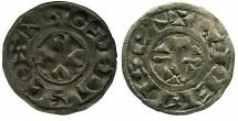 World Coins - FRANCE.BERRI.County of Gien.Geoffroi II Sire de Donzy AD 1120-1180?.Billon Denier.