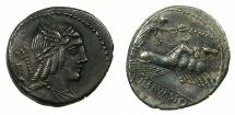 ROME.REPUBLIC.L.Iulius Bursio 85BC.AR.Denarius.Mint of ROME.