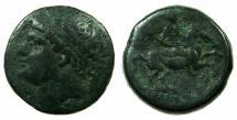 Ancient Coins - SICILY.SYRACUSE.Hieron II 275-216 BC.AE.27mm. ~#~. Calveryman.