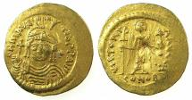 Ancient Coins - BYZANTINE EMPIRE.Maurice Tiberius AD 582-602.AV.Lightweight solidus 4.26g. ( = 23 Siliquae ).Mint of CONSTANTINOPLE.