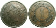World Coins - CYPRUS.Victoria 1837-1901.AE.1 Piastre 1881. Reverse.Thin One.