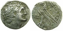 Ancient Coins - PTOLEMAIC EMPIRE.EGYPT.ALEXANDRIA.Ptolemy XII Neos Dionysios 80-51 BC.1st period 80-58 BC.AR.Tetradrachm, struck 68/6 BC