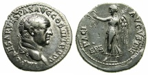 Ancient Coins - IONIA.EPHESUS.Vespasian AD 69-79.AR.Denarius.Struck AD 71.~#~Victory advancing left.
