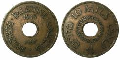 World Coins - PALESTINE.British Mandate 1920-1948AE.10 Mils 1943