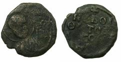 World Coins - CRUSADER.Principality of ANTIOCH.Tancred AD 1104-1112.AE.Follis. Bust of Saint Peter