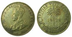 World Coins - BRITISH WEST AFRICA.George V.Nickel-Brass 2 shillings.1924.