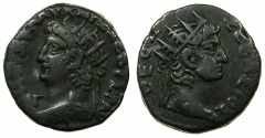 Ancient Coins - EGYPT.ALEXANDRIA.Nero AD 54-68.Billon Tetradrachm, struck AD 66/67.~#~.Radiate bust of AUGUSTUS.