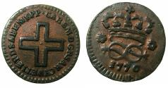 World Coins - ITALY.SARDINIA.Carlo Emanuele III 1730-1773.AE.2 Denari 1770.Mint of TURIN.