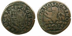 World Coins - ITALY.PAPALCY.Pope Innocent XII ( Antonio Pignatelli ) AD 1691-1700.AE.Mezzo Bolognino 1693.Mint of BOLOGNA.