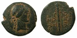 Ancient Coins - APAMEA.Pseudo Autonomous issue .circa Mid 1st cent BC.~#~.Thyrsus.