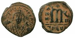 Ancient Coins - BYZANTINE EMPIRE.Phocas AD 602-610.AE.Follis, struck AD 609/610.Mint of THEOUPOLIS ( ANTIOCH )