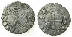 World Coins - CRUSADER STATES.Principality of ANTIOCH. Bohemond III or IV c.1149-1233 Bi.Denier. Class I .