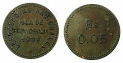 World Coins - VENEZUELA.Isla de Providencia.Leper colony.AE.0.50 Bolivar.1939.