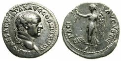 Ancient Coins - IONIA.EPHESUS.Vespasian AD 69-79.AR.Denarius.Struck AD 71.~#~Victory advancing left.