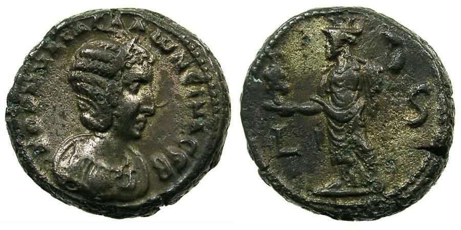 Ancient Coins - EGYPT.ALEXANDRIA.Salonina, wife of Gallieus AD 253-268.Billon Tetradrachm, struck AD 259/60.~#~.Alexandria.