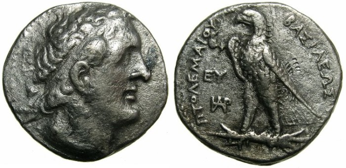 Ancient Coins - PTOLEMAIC EMPIRE.CYPRUS.Ptolemy II Philadelphus  285-246 BC.AR.Tetradrachm.Cypriot mint.SALAMIS ( or KITION ).