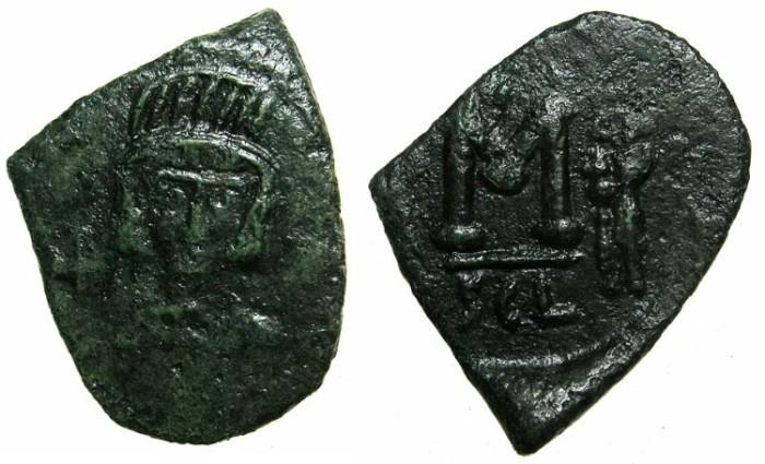 Ancient Coins - BYZANTINE EMPIRE.SICILY.Constantine IV AD 668-685 .AE.Follis.Mint of SYRACUSE.