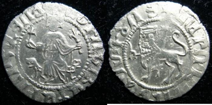Ancient Coins - CILICIAN ARMENIA.Levon I The Great AD 1198-1219.AR Half Double Tram.