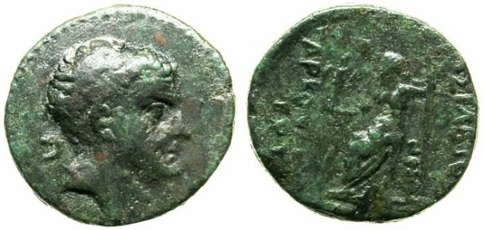 Ancient Coins - CILICIA.Tarkondimotos 39-31 BC.AE.20.Bust.Zeus seated.