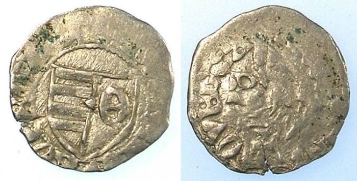Ancient Coins - Voivodes of Wallachia.Dan AD1383-1386.Bi.Denier