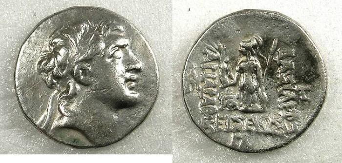 Ancient Coins - CAPPADOCIA Ariarathes IV Eusebes 280-163 BC AR Drachma Year 33