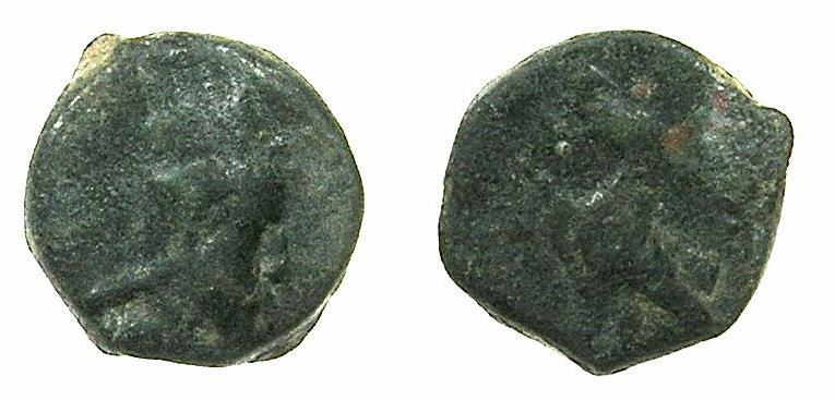 Ancient Coins - Artaxiads of ARMENIA.Tigranes IV 8-5 BC.AE.13.1mm.~#~.Eagle standing left.