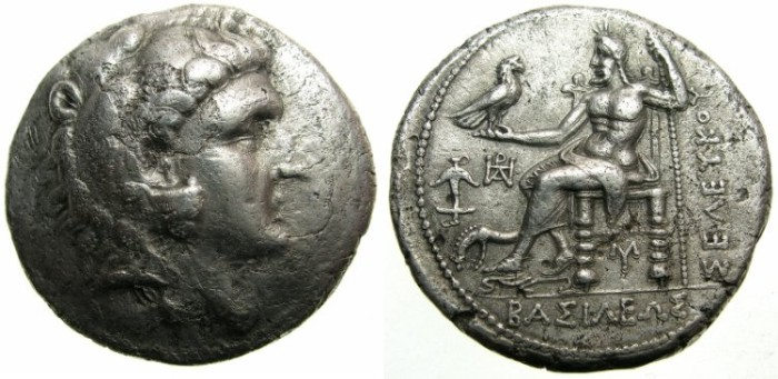 Ancient Coins - SYRIA.SELEUCID EMPIRE.Seleucus I 312-280 BC.AR.Tetradrachm.Mint of ECBATANA.