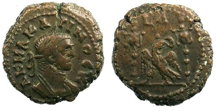 Ancient Coins - EGYPT ALEXANDRIA.Carinus Caesar AD 282.Bi.Tetradrachma.Eagle between velixilla