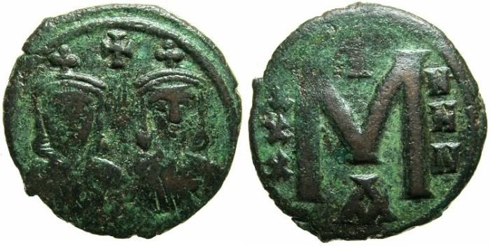 Ancient Coins - BYZANTINE EMPIRE.Nicephorus I and Stauracius Augustus AD 803-811.AE.Follis.Mint of CONSTANTINOPLE.