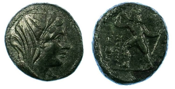 Ancient Coins - BRUTTIUM.Petelia.c.280-216 BC.AE.18mm