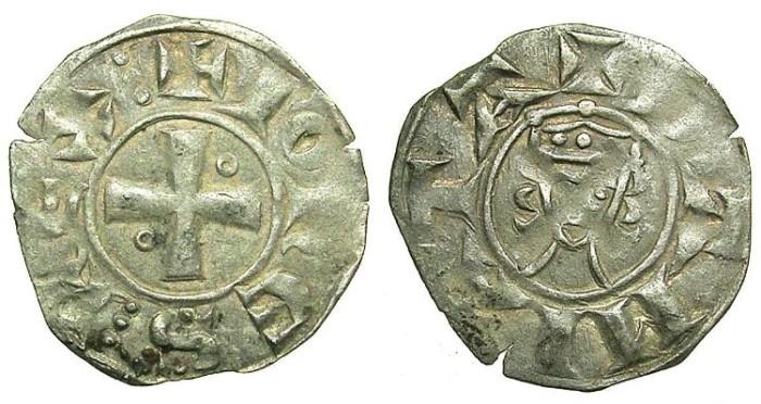 Ancient Coins - CRUSADER.JERUSALEM.John of Brienne 1210-1225.B.Denier.Mint of ACRE?