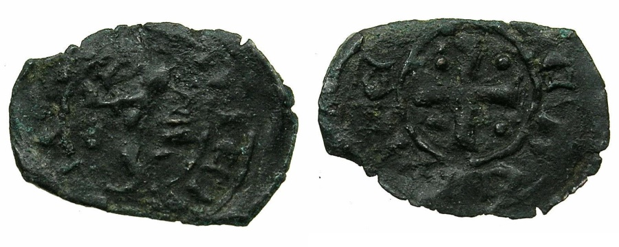 World Coins - CRUSADER STATES.CYPRUS.Peter I AD 1359-1369.Billon Denier. ****Ex.Slocum collection.