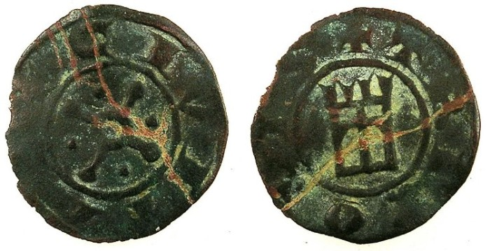 Ancient Coins - CRUSADER.County of Tripoli.Bohemond V or VI c.1233-1275.Anonymous issue.AE.Fraction.Type 6