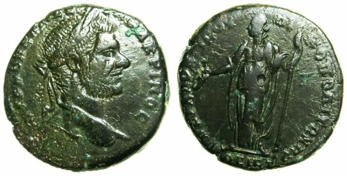 Ancient Coins - MOESIA INFERIOR.NIKOPOLIS AD ISTRUM.Macrinus AD 217-218.AE.26.9mm.~#~.Hera standing.