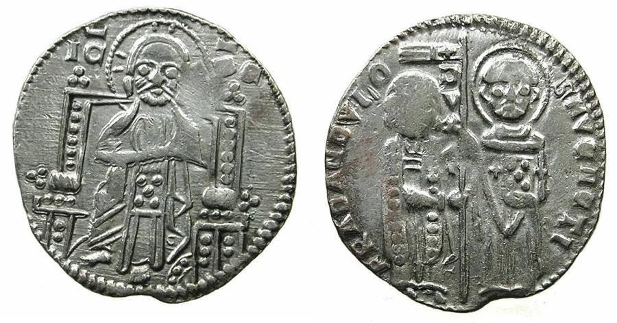 World Coins - ITALY.VENICE.Francesco Dandolo AD 1329-1339.AR.Grosso.