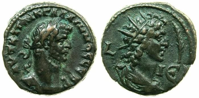 Ancient Coins - EGYPT.ALEXANDRIA.Gallienus AD 253-268.Bllon Tetradrachm struck AD 267/68.~#~.Bust of Helios right.