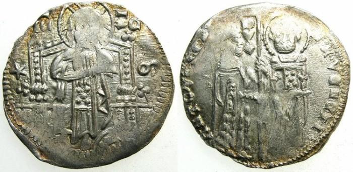 Ancient Coins - ITALY.VENICE.Antonio Venier 1382-1400.AR.Grosso.2nd type.Sigla M
