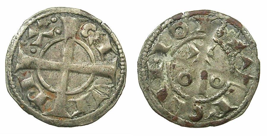 World Coins - SPAIN.County of BARCELONA.Alfonso I ( II of Aragon ) AD 1162-1196.Billon Denaro.