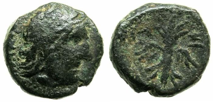 Ancient Coins - CRETE.AXUS.Circa 300-200 BC.AE.17.Zeus.Thunderbolt.