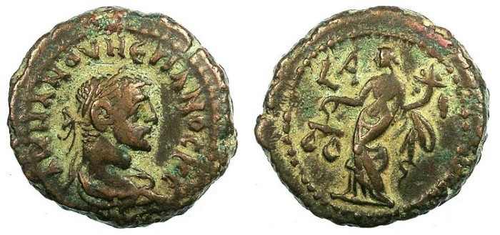 Ancient Coins - EGYPT ALEXANDRIA.Numerian  as Caesar AD 283-284.Bi.Tetradrachma.Dikaiosyne