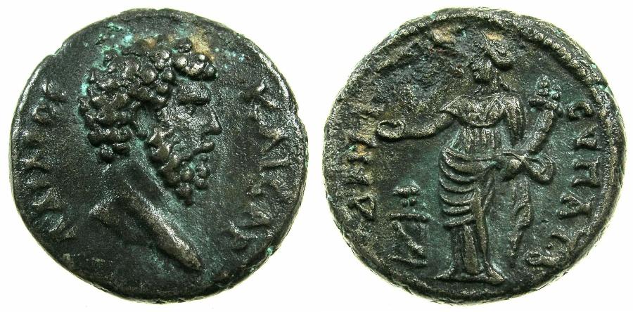 Ancient Coins - EGYPT.ALEXANDRIA.Aelius Caesar AD136-138.Billon Tetradrachm, Consular date B AD 137.