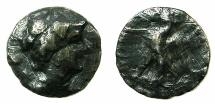 Ancient Coins - CYPRUS.Uncertian mint. Ptolemy VIII Euergetes II 145-111 BC.AE.Drachma.****RARE, DAMAGED COIN ****