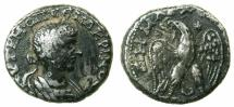 Ancient Coins -  PHOENICIA.MACRINUS AD 217-218.AR.Tetradrachm.Mint of ARADUS.*** Varient with Star not recorded in Prieur.***
